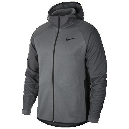 (取寄)ナイキ メンズ パーカー サーマ ウィンターライズド F/Z フーディ Nike Men's Therma Winterized F/Z Hoodie Dark Grey Black