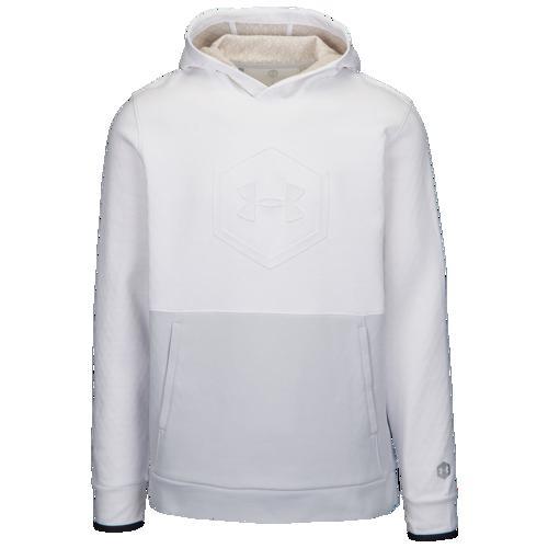 (取寄)アンダーアーマー メンズ リカバリー フリース グラフィック フーディ Underarmour Men's Recovery Fleece Graphic Hoodie White Halo Grey Metallic Silver