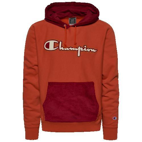 (取寄)チャンピオン メンズ リバース ウィーブ コーデュロイ PO フーディ Champion Men's Reverse Weave Corduroy PO Hoodie Burnt Orange Cherry Pie