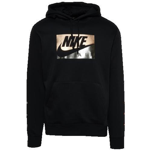 (取寄)ナイキ メンズ パーカー メタリック ボックスド エア フーディ ブラック ゴールド シルバー 黒 金 銀 Nike Men's Metallic Boxed Air Hoodie Black Copper Silver