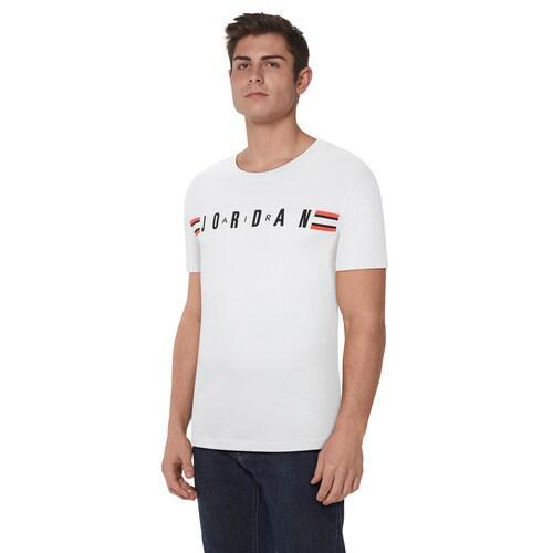 (取寄)ジョーダン メンズ ジャンプマン ショート スリーブ テープド クルー Jordan Men's Jumpman Short Sleeve Taped Crew White Black