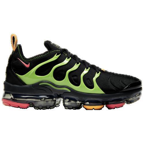 (取寄)ナイキ メンズ スニーカー シューズ エア ヴェイパーマックス プラス ランニング Nike Men's Air Vapormax Plus Black Ember Glow Electric Green Kumquat