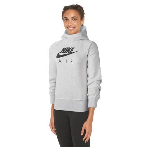 【エントリーでポイント5倍】(取寄)ナイキ レディース パーカー エア フーディ ロゴ Nike Women's Air Hoodie Birch Heather White