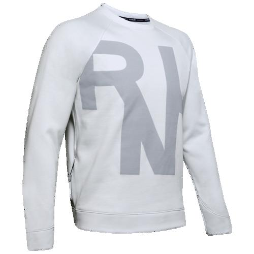 (取寄)アンダーアーマー メンズ ラン パフォーマンス フリース クルー Underarmour Men's Run Performance Fleece Crew Halo Grey Medium Heather Halo Grey Reflective