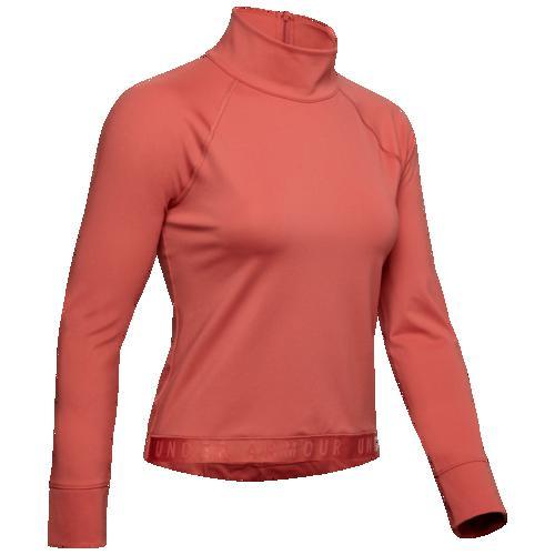 (取寄)アンダーアーマー レディース ラッシュ コールドギア モック ネック プルオーバー Underarmour Women's Rush ColdGear Mock Neck P/O Fractal Pink