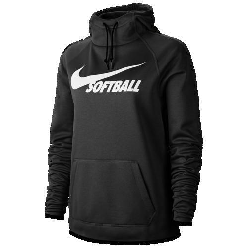 【クーポンで最大2000円OFF】(取寄)ナイキ レディース パーカー ソフトボール サーマ フーディ Nike Women's Softball Therma Hoodie Black Black White