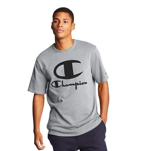 (取寄)チャンピオン メンズ ヘリテージ ファーリー ロゴ ショートスリーブ Tシャツ Champion Men's Heritage Furry Logo S/S T-Shirt Oxford Grey