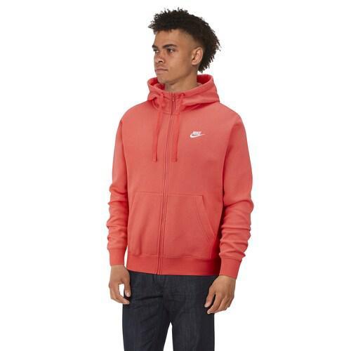 (取寄)ナイキ メンズ パーカー クラブ フルジップ フーディ Nike Men's Club Full-Zip Hoodie Ember Glow White
