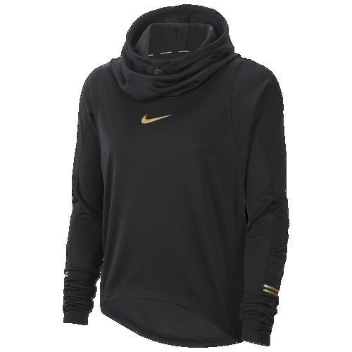 【クーポンで最大2000円OFF】(取寄)ナイキ レディース グラム ミッドレイヤー ロング スリーブ トップ Nike Women's Glam Midlayer Long Sleeve Top Black