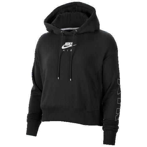 (取寄)ナイキ レディース エア フリース フーディ Nike Women's Air Fleece Hoodie Black Ice Silver
