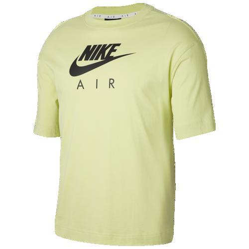 (取寄)ナイキ レディース ボーイフレンド エア ショート スリーブ Tシャツ Nike Women's Boyfriend Air Short Sleeve T-Shirt Limelight