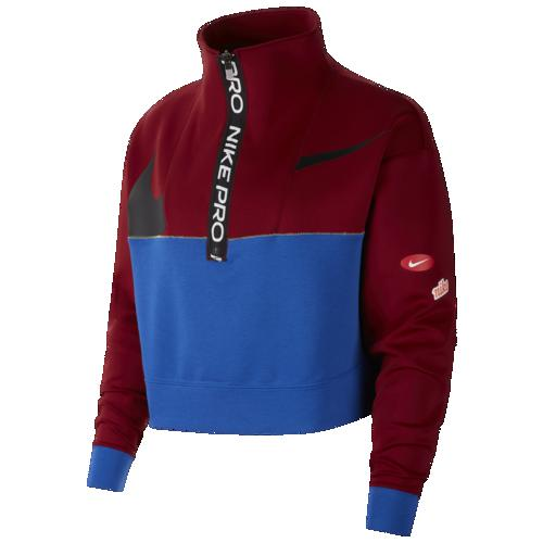(取寄)ナイキ レディース プル オーバー DF JDIY 1/2 ジップ フリース Nike Women's Pull Over DF JDIY 1/2 Zip Fleece Team Red Game Royal Black