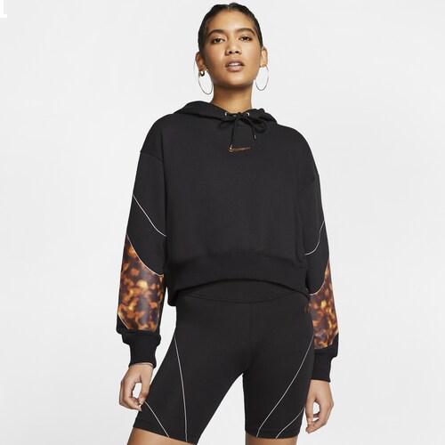 (取寄)ナイキ レディース トータス クロップ フーディ Nike Women's Tortoise Crop Hoodie Black