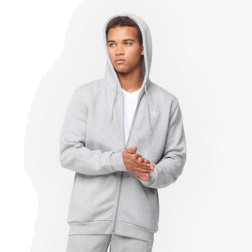 (取寄)アディダス メンズ オリジナルス トレフォイル フリース F/Z フーディ Men's adidas Originals Trefoil Fleece F/Z Hoodie Medium Grey Heather
