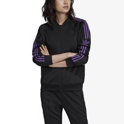 (取寄)アディダス レディース オリジナルス スーパースター トラック トップ Women's adidas Originals Superstar Track Top Black Purple