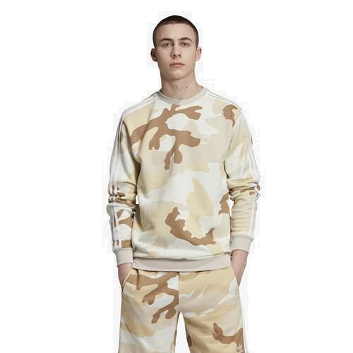 (取寄)アディダス メンズ オリジナルス カモ クルー Men's adidas Originals Camo Crew Clear Brown