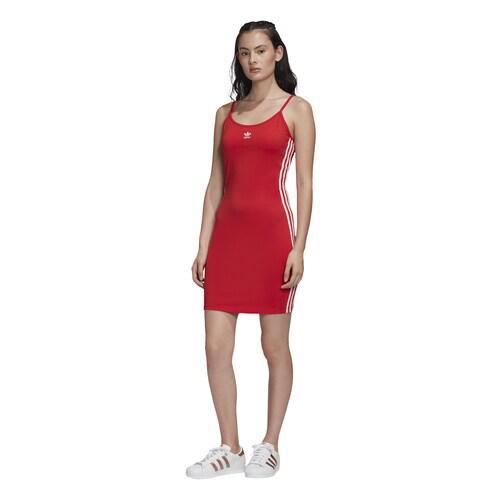 【クーポンで最大2000円OFF】(取寄)アディダス レディース オリジナルス アディカラー タンク ドレス Women's adidas Originals Adicolor Tank Dress Lush Red White