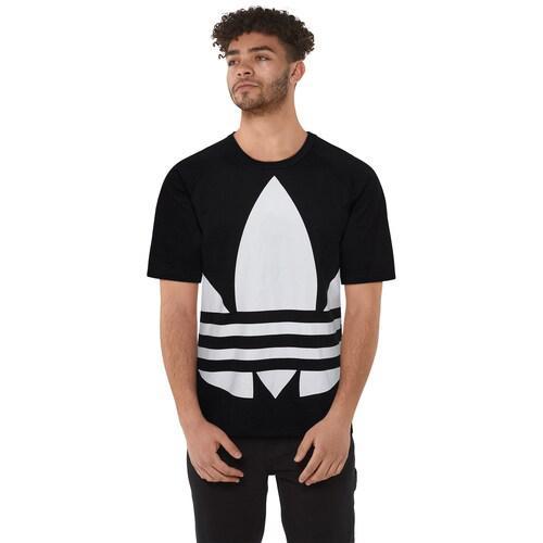 adidas アディダス 訳あり品送料無料 トップスショート ファッション ブランド クーポンで最大2000円OFF 新色追加 取寄 メンズ オリジナルス ビッグ Tシャツ トレフォイル Big Trefoil Originals White T-Shirt Men's Black