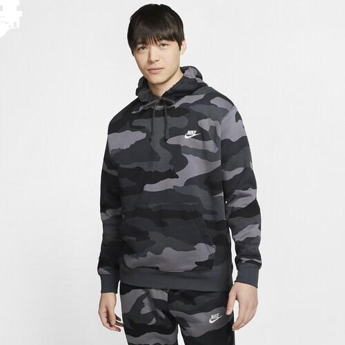 (取寄)ナイキ メンズ カモ クラブ フーディ Nike Men's Camo Club Hoodie Dark Grey Anthracite Summit White