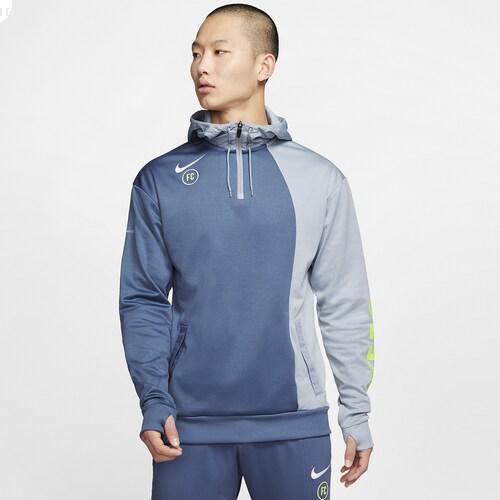 (取寄)ナイキ メンズ FC フーディ Nike Men's FC Hoodie Diffused Blue Obsidian Mist
