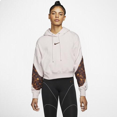 (取寄)ナイキ レディース トータス クロップ フーディ Nike Women's Tortoise Crop Hoodie Barely Rose