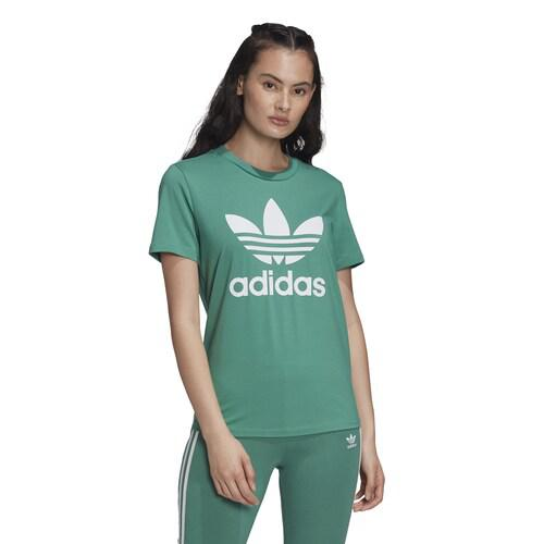 adidas アディダス トップスショート ファッション ブランド クーポンで最大2000円OFF 取寄 数量は多 レディース オリジナルス 信用 アディカラー Trefoil Originals Future トレフォイル Tシャツ Women's White T-Shirt Adicolor Hydro