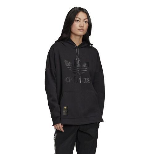 (取寄)アディダス レディース オリジナルス スーパースター 50 ボーイフレンド フーディ Women's adidas Originals Superstar 50 Boyfriend Hoodie Black