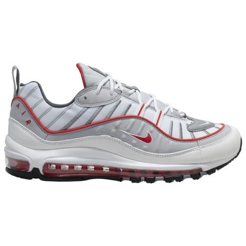 (取寄)ナイキ メンズ エア マックス 98 Nike Men's Air Max 98 Particle Grey Track Red Iron Grey