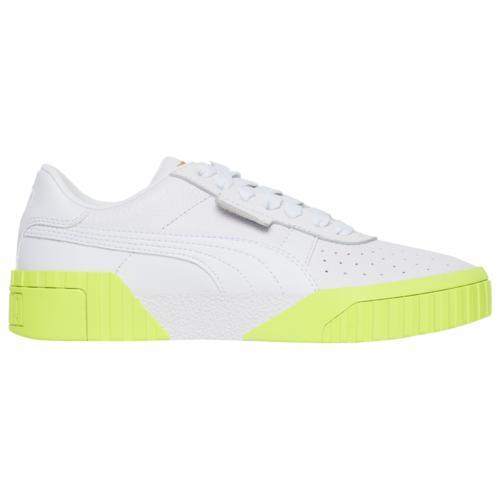 (取寄)プーマ レディース シューズ プーマ カリ Women's Shoes PUMA Cali White Team Gold Yellow Alert