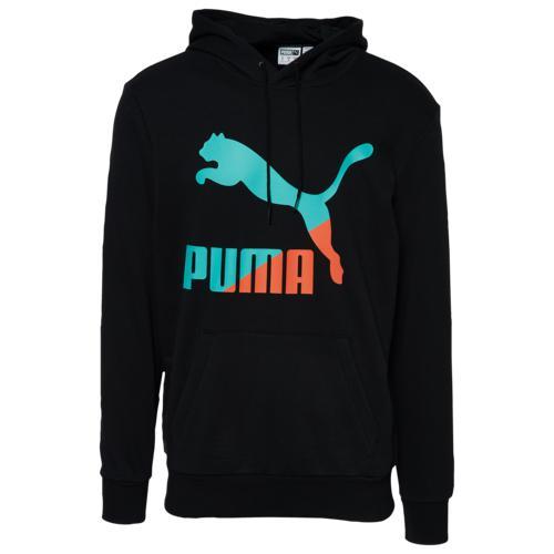 (取寄)プーマ メンズ プーマ クラシック ロゴ フーディ Men's PUMA Classics Logo Hoodie Black Multi