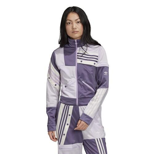 【エントリーでポイント5倍】(取寄)アディダス レディース オリジナルス D. カタリ トラック トップ Women's adidas Originals D. Cathari Track Top Purple