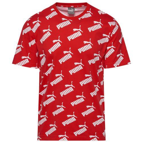 puma プーマ ウェア ファッション ブランド クーポンで最大2000円OFF 取寄 メンズ アンプリファイド [ギフト/プレゼント/ご褒美] Risk 新色 T-Shirt PUMA Men's Amplified AOP Red Tシャツ High