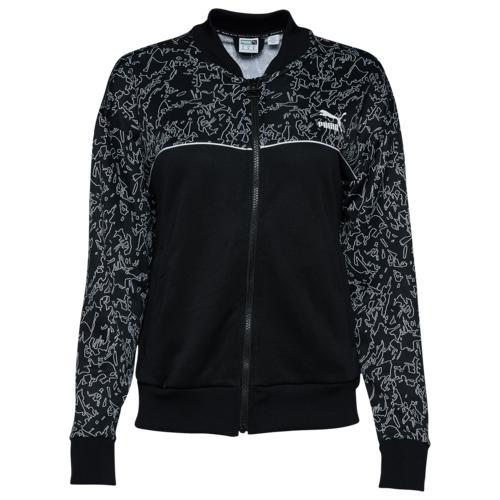 (取寄)プーマ レディース プーマ クラシック AOP トラック ジャケット Women's PUMA Classics AOP Track Jacket Puma Black