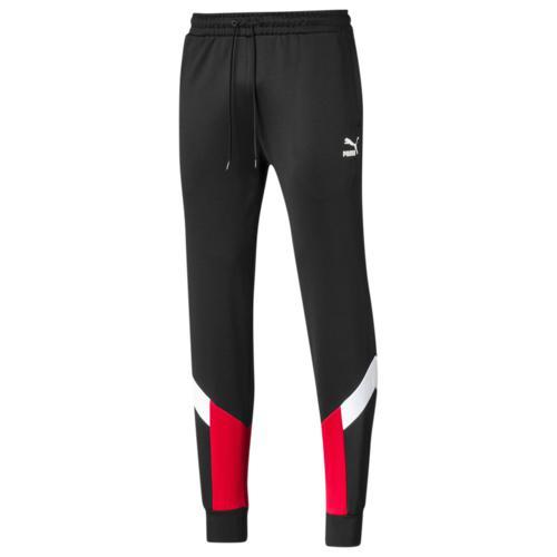 (取寄)プーマ メンズ プーマ アイコニック MCS トラック パンツ Men's PUMA Iconic MCS Track Pants Black High Risk Red
