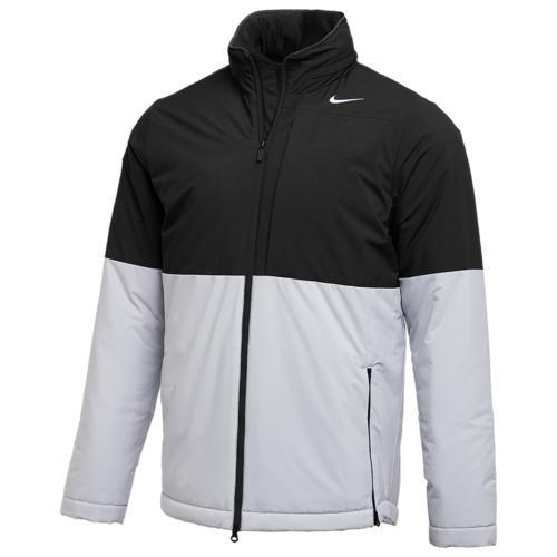 【クーポンで最大2000円OFF】(取寄)ナイキ メンズ チーム オーセンティック シールド ヘビーウェイト ジャケット Nike Men's Team Authentic Shield Heavyweight Jacket Black Flat Silver White