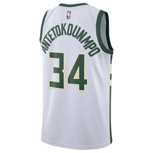 (取寄)ナイキ メンズ NBA スウィングマン ジャージー ミルウォーキー バックス Nike Men's NBA Swingman Jersey ミルウォーキー バックス White