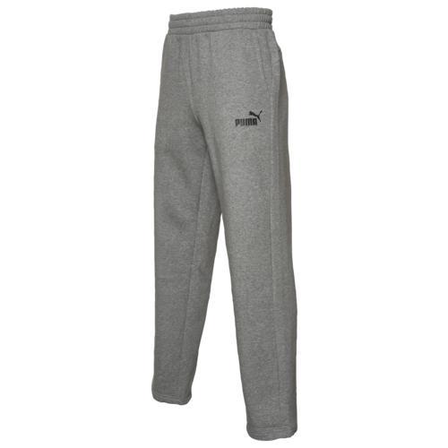 (取寄)プーマ メンズ プーマ エッセンシャル オープン ヘム フリース パンツ Men's PUMA Essentials Open Hem Fleece Pants Medium Grey Heather