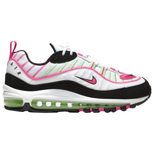 (取寄)ナイキ レディース シューズ エア マックス 98 Nike Women's Shoes Air Max 98 White Hyper Pink Illusion Green