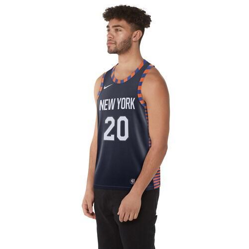 (取寄)ナイキ メンズ NBA シティ エディション スウィングマン ジャージー ニュー ヨーク ニックス Nike Men's NBA City Edition Swingman Jersey ニュー ヨーク ニックス College Navy