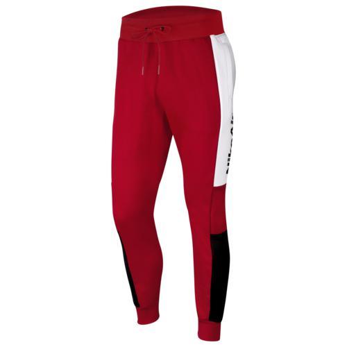 (取寄)ナイキ メンズ エア フリース パンツ Nike Men's Air Fleece Pants University Red White Black