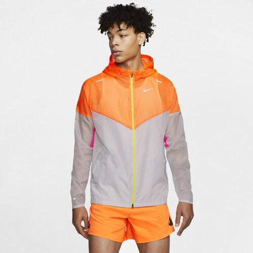 (取寄)ナイキ メンズ ウインドランナー Nike Men's Windrunner Pure Platinum Total Orange Reflective Silver