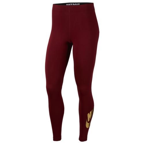 【クーポンで最大2000円OFF】(取寄)ナイキ レディース レガシー91 グラム ダンク レギンス Nike Women's Leg-A-See Glam Dunk Leggings Team Red Metallic Gold