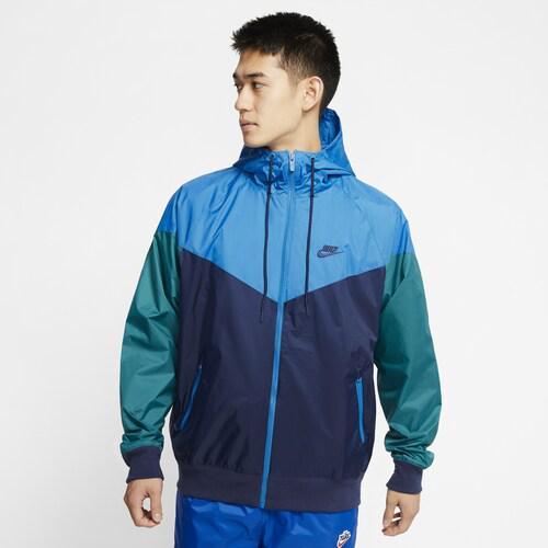 (取寄)ナイキ メンズ ウインドランナー フーデット ジャケット Nike Men's Windrunner Hooded Jacket Midnight Navy Battle Blue Geode Teal