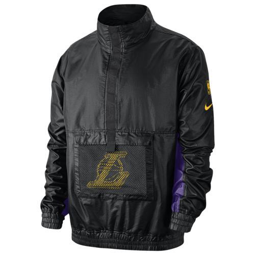 (取寄)ナイキ メンズ NBA コートサイド ライトウェイト PO ジャケット ロス エンジェルス レイカーズ Nike Men's NBA Courtside Lightweight PO Jacket ロス エンジェルス レイカーズ Black Black Field Purple