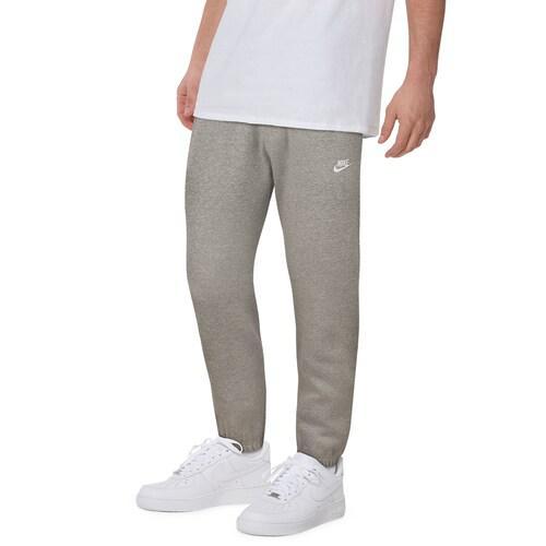 【クーポンで最大2000円OFF】(取寄)ナイキ メンズ クラブ カフド パンツ Nike Men's Club Cuffed Pants Dark Grey Heather White