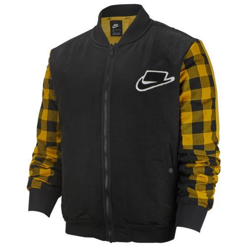 【クーポンで最大2000円OFF】(取寄)ナイキ メンズ ボンバー フィル ジャケット Nike Men's Bomber Fill Jacket Black Dark Sulfur