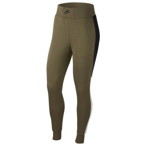 (取寄)ナイキ レディース エア フリース パンツ Nike Women's Air Fleece Pant Medium Olive Black Birch Heather