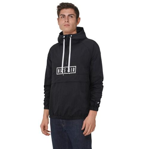 (取寄)ナイキ メンズ エア ウーブン ハーフジップ ジャケット Nike Men's Air Woven Half-Zip Jacket Black White