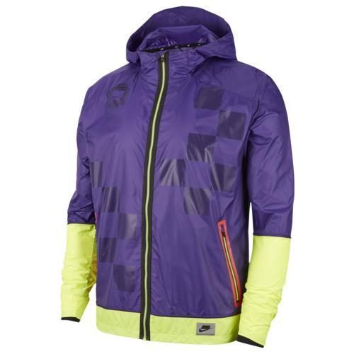 (取寄)ナイキ メンズ ワイルド ラン シールド ジャケット Nike Men's Wild Run Shield Jacket Court Purple Volt Black