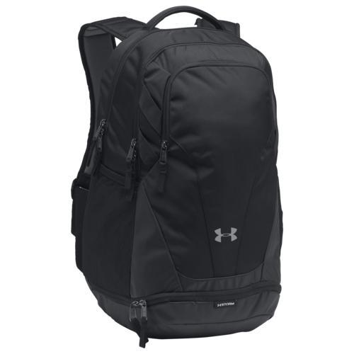 (取寄)アンダーアーマー  チーム ハッスル 3.0 バックパック リュック バッグ Underarmour  Team Hustle 3.0 Backpack Black Black Silver 送料無料